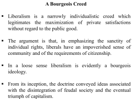 A Bourgeois Creed
