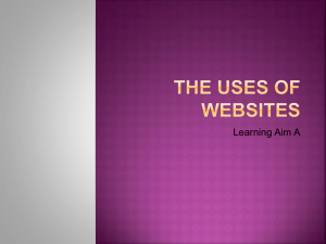 The uses of websites