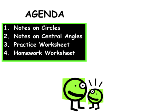 Day 1 - CCGPS Geometry - Vocab and Central Angles
