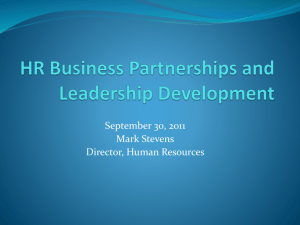 HR Business Partnerships and Leadership Development