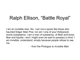 ralph ellison battle royal short story Ralph ellison's short story, ''battle royal,'' first published in 1947, describes an extremely disturbing event, organized by the local elite white men of a southern town.