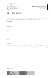 AMA Design brief template - Angus Mackenzie Architect