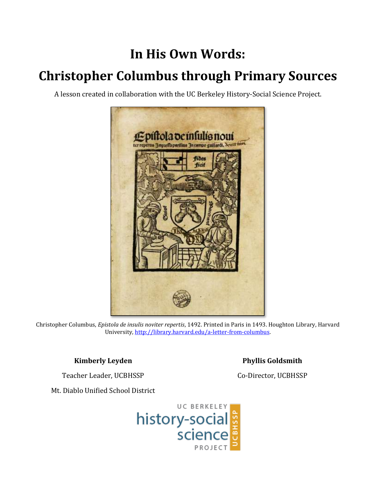 christopher columbus thesis statement