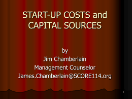 START-UP COSTS and CAPITAL SOURCES