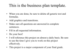 Imc for small business and entrepreneurial ventures chp business plan template fbccfo Gallery