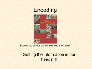 Encoding - AP Psychology Community