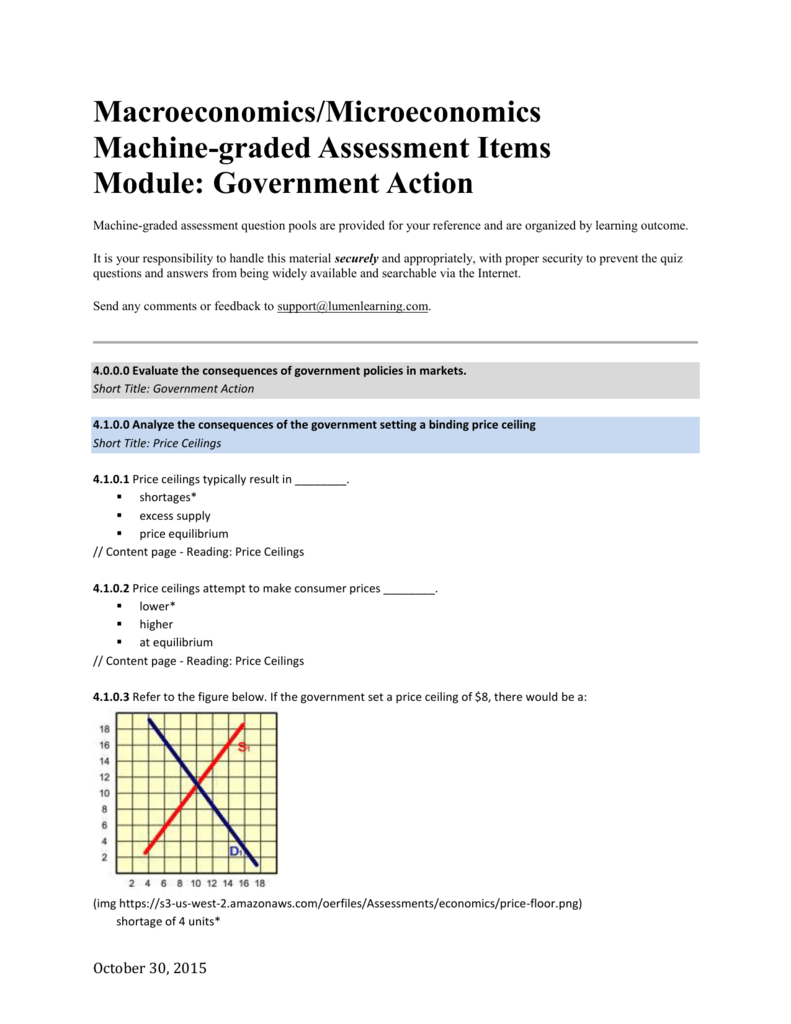 Macroeconomics Microeconomics Machine Graded