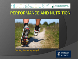 Performance and nutrition
