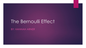 The Bernoulli Effect