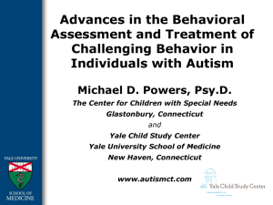 Behavioral Treatments PowerPoint, Dr. Michael Powers