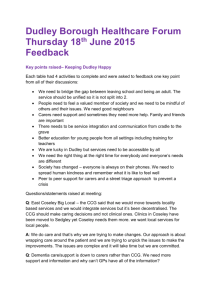 Dudley Borough Healthcare Forum Feedback