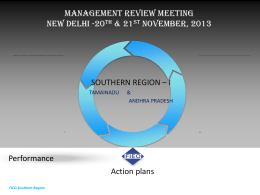 Management Review Meeting New Delhi 18th & 19th