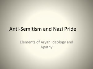 Anti-Semitism and Nazi Pride