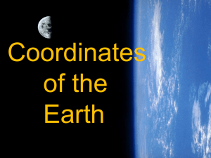 Coordinates of the Earth