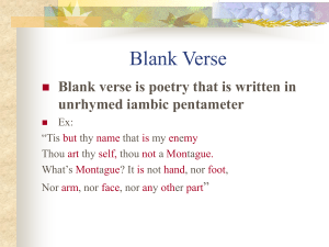 Verse and Meter PowerPoint