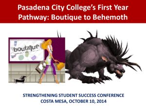Starting Students Right: PCC*s Pathways