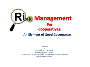 Risk Management for Cooperatives