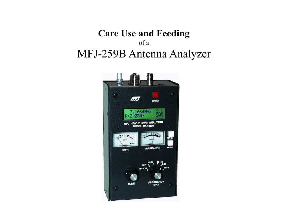 MFJ Antenna Analyzers
