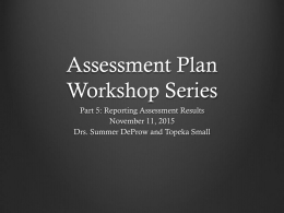 Analyze Assessment Data and Report Assessment Results
