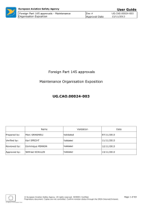 Foreign Part 145 approvals - EASA