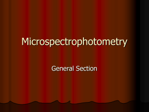 Microspectrophotometry - Projects at NFSTC.org