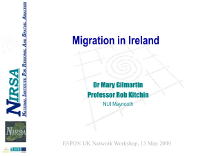 Mary Gilmartin, Irish National Institute for Regional and Spatial