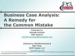 48862f5550f6 Business Case Analysis - Society of Cost Estimating and Analysis