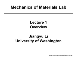Machine Design Analyis - University of Washington