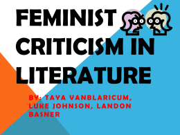 feminist criticism on a walk to remember Persepolis: adding feminism to the i was trying to remember the conversations you mentioned about too, @ hilary chute's analysis of the texture of.