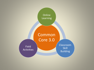 Common Core 3.0 PowerPoint