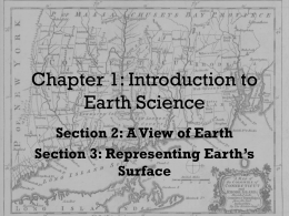 Ch 1 Views of Earth and Maps
