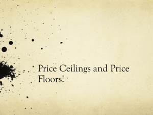 Price Ceilings and Price Floors!