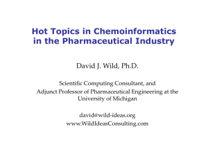 Introduction to Chemoinformatics & Computer