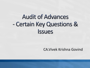 Practical issues on Audit of Advances
