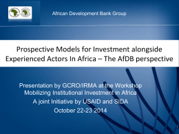 AfDB perspective ppt