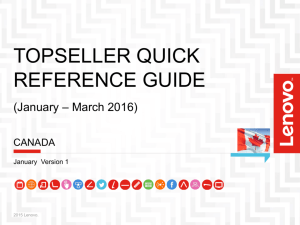 the topseller quick reference guide - Canada