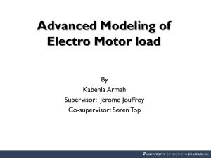Advance Modeling of Electro Motor load