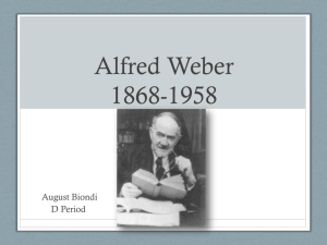 Alfred Weber new