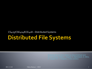 Distributed Systems Lecture 1: Overview