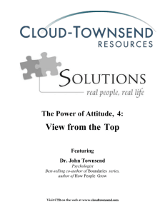 The Power of Attitude, 4 - Cloud Townsend Resources