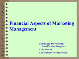 Financial Aspects of Marketing Management