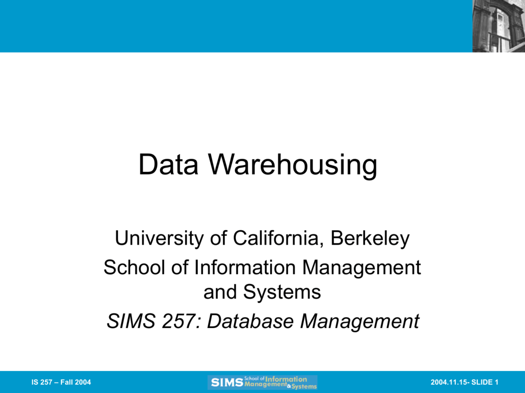 Slides from Lecture 18 - Courses - University of California