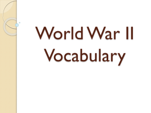 World War II Vocabulary