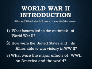 World War II Introduction