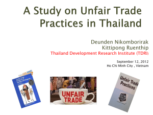 Deunden Nikomborirak_ A Study on Unfair Trade Practices in