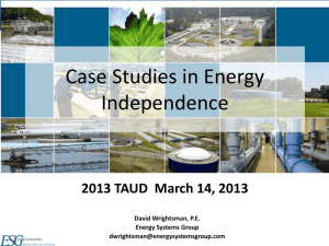 TAUD 2013 - energy independence