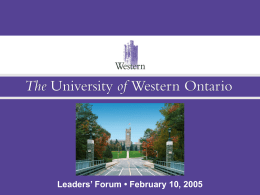PowerPoint - University of Western Ontario