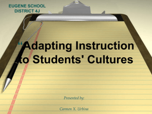 Adapting Instr to Students Cultures