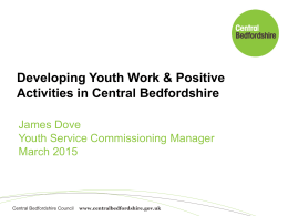 The Central Bedfordshire Youth Offer entitles