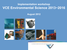 VCE Environmental Science 2013−2016